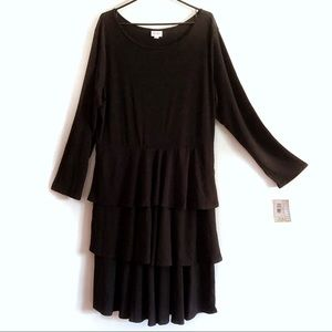 NWT Solid Black! LuLaRoe Georgia Dress. LBD!